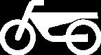 Sinnbild Motorrad weiß