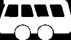 Sinnbild Omnibus weiß